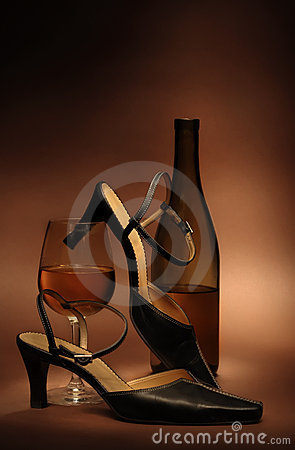 Still life with women s shoes