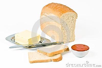 Stilleven met brood