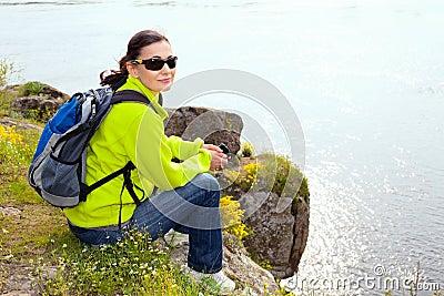 Stillstehender Wanderer