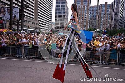 Stilt Walker Editorial Stock Image