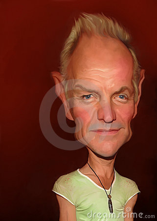 Sting caricature Editorial Stock Photo