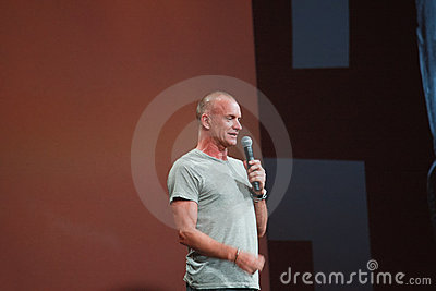 Sting welcomes attendees of Oracle OpenWorld Editorial Photography