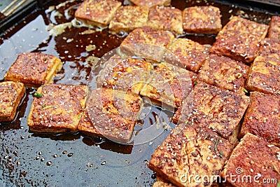 Stinky tofu or smelly tofu