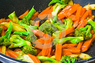 Stir-fried broccoli and carrot recipe