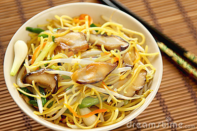 Stir fried Noodle with mushroom