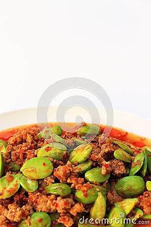 Stir-fried Spicy Pork with Stink Beans