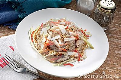 Stir fried udon noodle