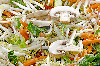 Stir fry with mushrooms