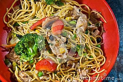 Stir-fry noodle bowl