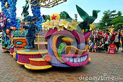 Stitch at disney parade Editorial Stock Image