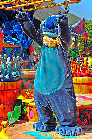 Stitch at disney parade Editorial Stock Image