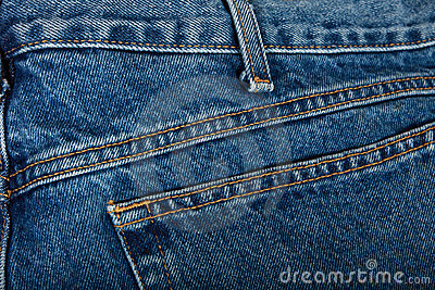 Stitched Blue Jeans