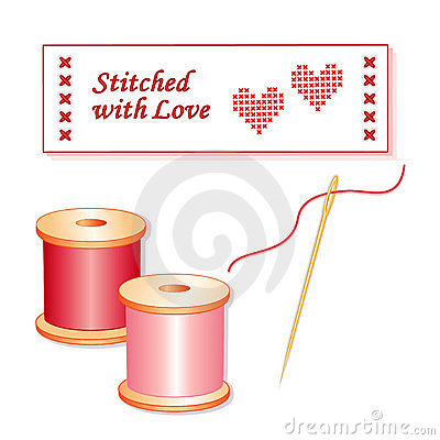 Stitched with Love Sewing Label