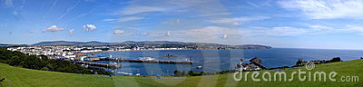 Stitched panorama of Douglas on the Isle of Man