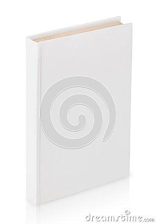 Stängd vit bok