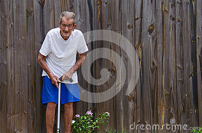 Sto roczniaka centenarian starszych mężczyzna