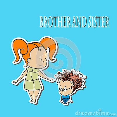 Free Stock Brother And Sister Greetings Stock Image - 67385681