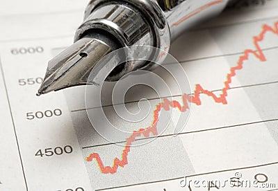 Stock Chart w/ Fountain Pen