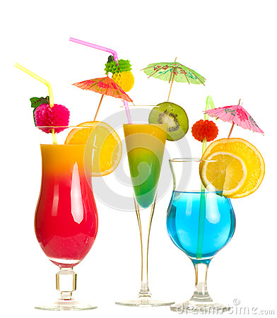 Stock image of alcohol cocktails
