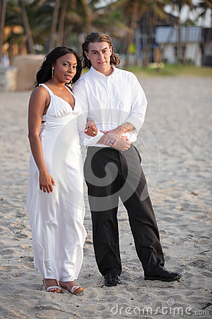 Stock image of a couple on the beach