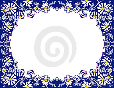 Stock image of Daisies Frame
