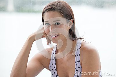 Stock image of a healthy woman