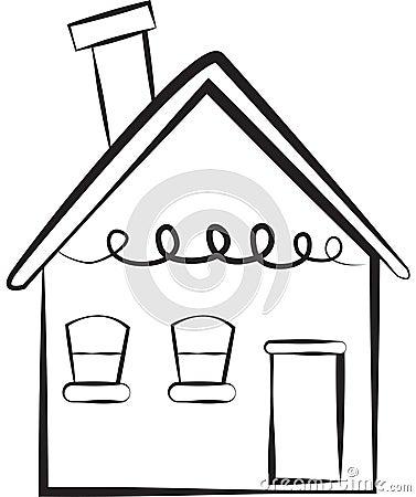 Stock Image: Simple house Stock Photo