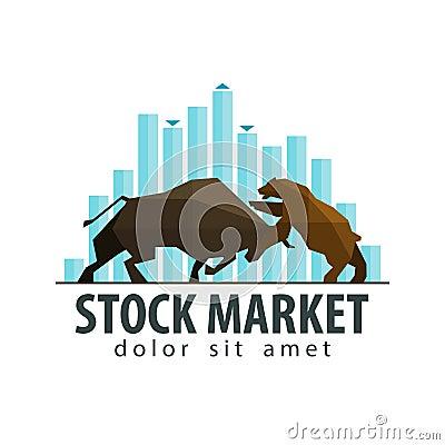 Stock Market Business Vector Logo Design Template Stock