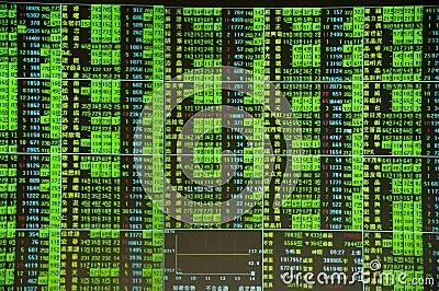Stock market crash Editorial Stock Image