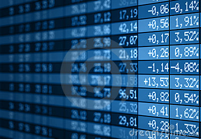 Stock Market Electronic Board Blue Royalty Free Stock Images - Image: 18277609