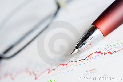 Financial accounting stock market graphs