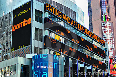 Stock Market news screen Editorial Photography