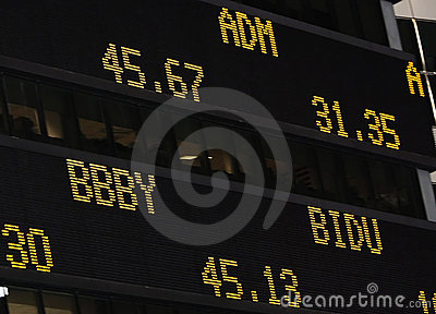 Stock Market Ticker Editorial Image