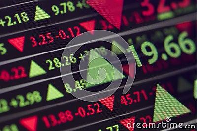 Stock Market Ticker Stock Photo