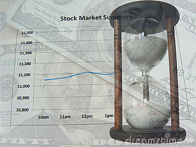 Stock market and time