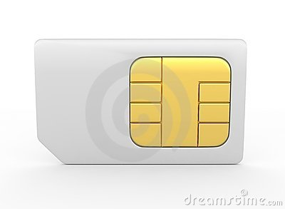 Stock Photo: 3d sim card
