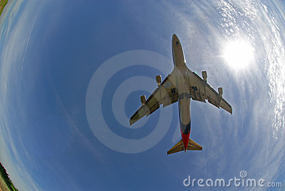 Stock photo of an aeroplane