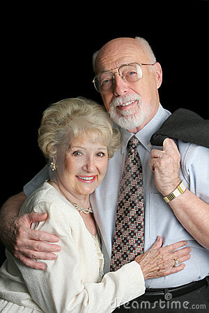 Stock Photo of Affectionate Senior Couple