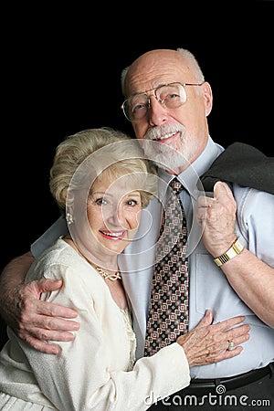Stock Photo of Affectionate Senior Couple