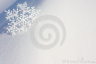 Stock Photo : Christmas Card with Snowflake