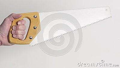Stock Photo of Handsaw