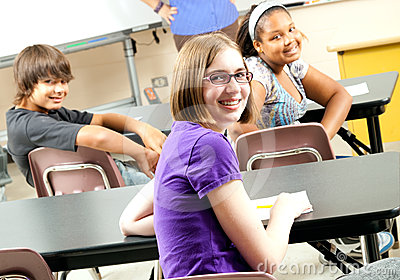 Stock Photo  of Happy School Students