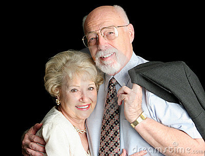 Stock Photo of Loving Senior Couple