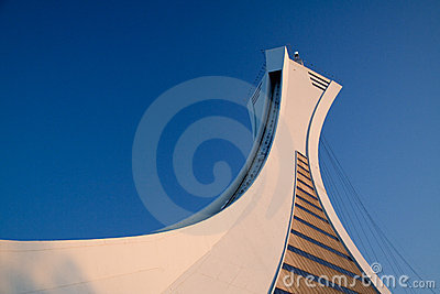 Stock photo of the Montreal Olympic Stadium Tower Editorial Photography