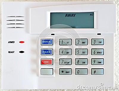 Stock Photo: Residential Alarm System Keypad
