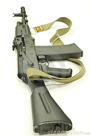 Stock Photo: Saiga- Kalashnikov ak47 modification