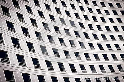Windows on a curved building