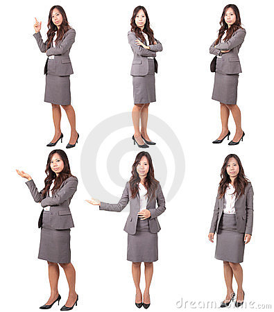 Stock Photo: women in uniform post variety of acti