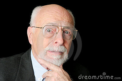 Stock Photo of Worried Senior Man