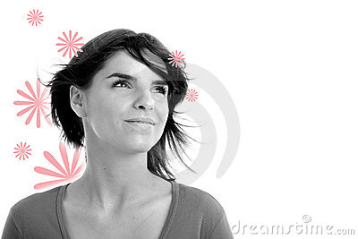 Stock photo of a young pretty woman